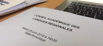 Conseil Académique des Langues Régionales (CALR) , 21/01/20, Académie de Rennes, déclaration préalable de Kelennomp!
