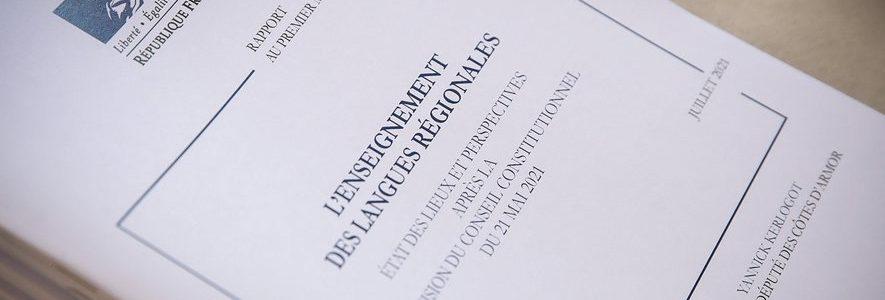 Dielfennañ ha savboent : danevell d'ar c'hentañ ministr diwar-benn kelenn ar yezhoù rannvro (e galleg)