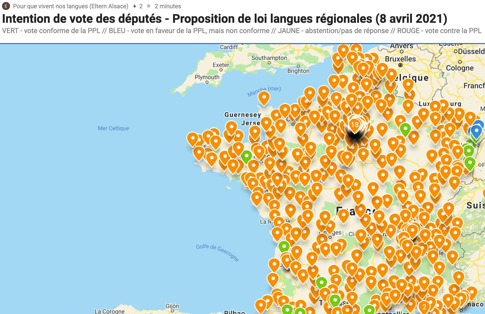 Proposition de loi sur les langues régionales le 8/04/2021 : interpellez votre député !