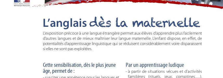 Morbihan : Quand la diversité linguistique à l'école maternelle publique passe par … l'anglais !