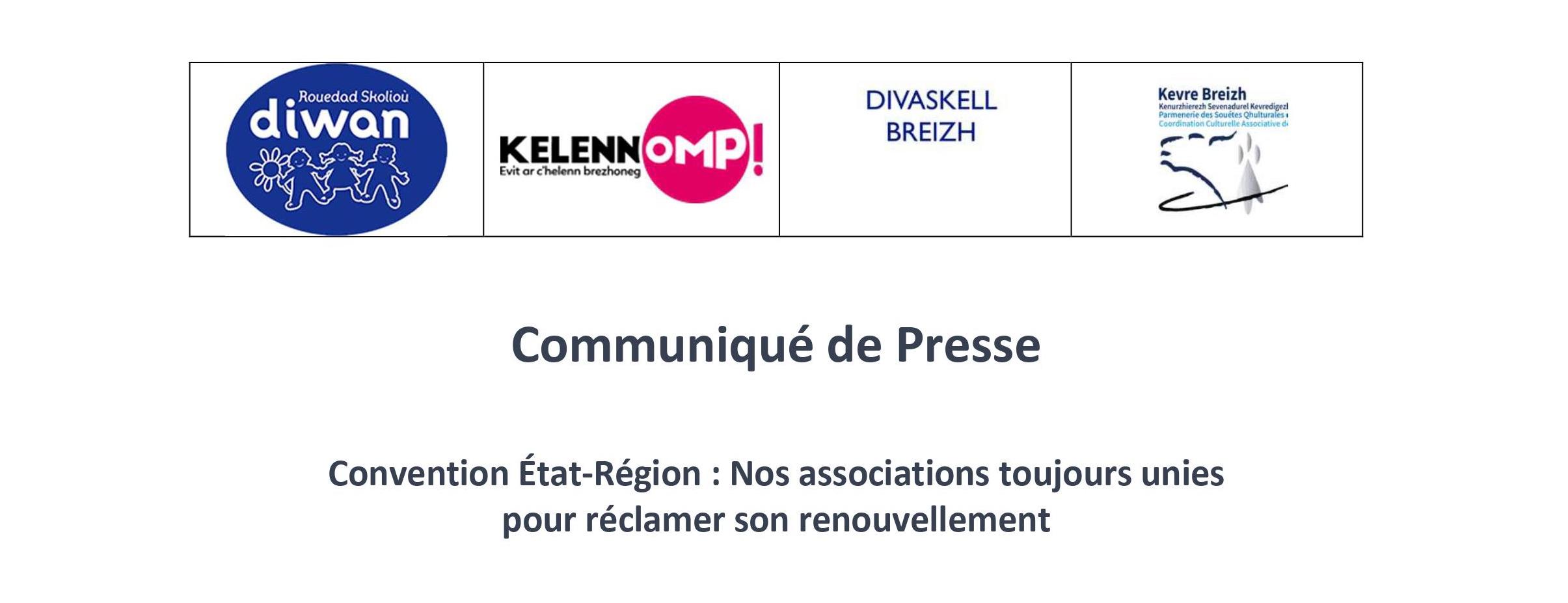 Communiqué de presse : Convention État-Région, Nos associations toujours unies pour réclamer son renouvellement